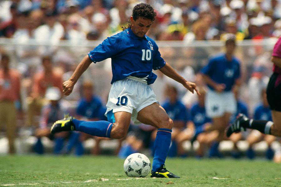 1994年のワールドカップに出場したロベルト・バッジョ【写真:Getty Images】
