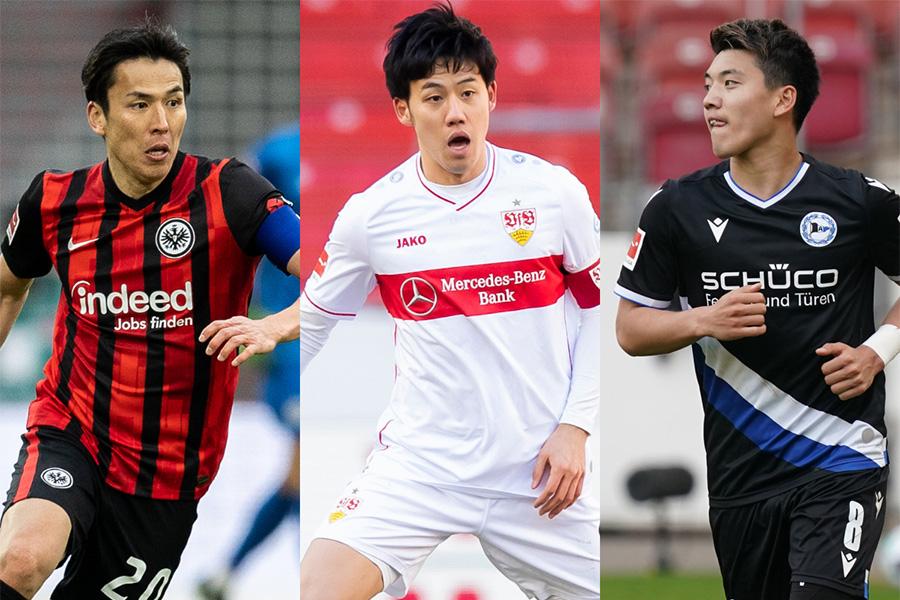 ブンデスリーガでプレーする日本人選手の評価に注目【写真:Getty Images】