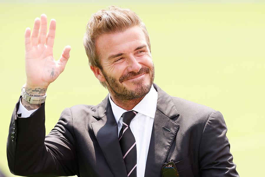 デイビッド・ベッカム氏が、イングランド代表戦をスタンドで観戦【写真:Getty Images】