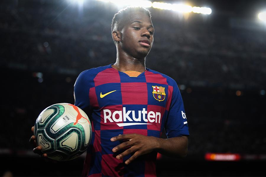 クラブ史上2番目の若さでトップデビューを果たしたFWアンス・ファティ【写真:Getty Images】