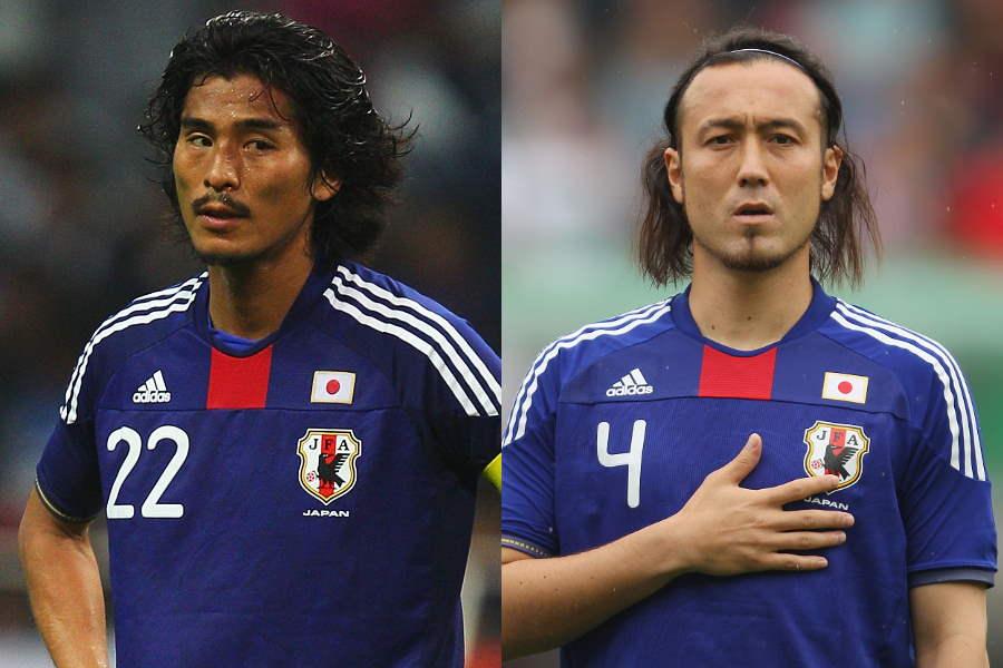 闘莉王(右)が日本代表時代コンビを組んだCB中澤佑二を称賛【写真:Getty Images】