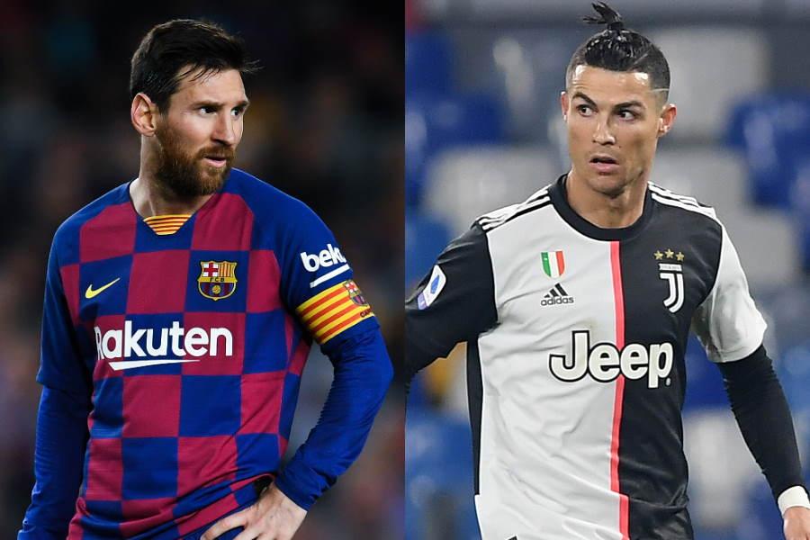 「最も裕福なサッカー選手10傑」選出のメッシ(左)とC・ロナウド【写真:Getty Images】