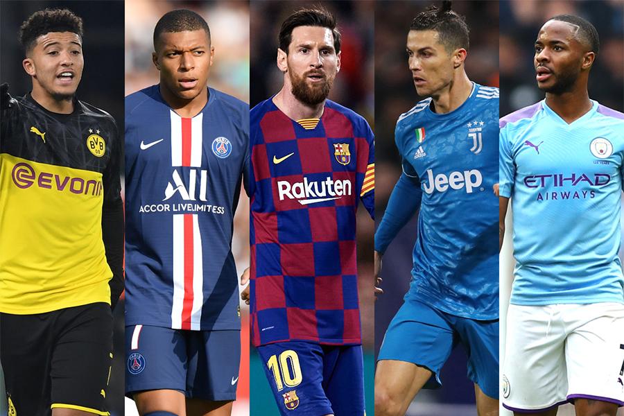 最新の選手市場価値トップ100の選手たちに選ばれた選手たちに注目【写真:Getty Images】