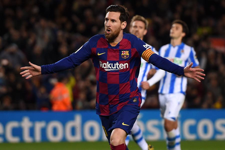 サッカー界のいくつもの記録を塗り替えてきたバルセロナFWリオネル・メッシ【写真:Getty Images】