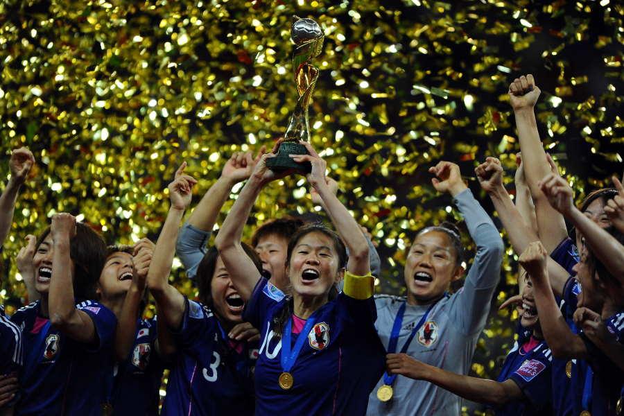 投票直前で23年の女子W杯招致を断念(※写真は2011年W杯優勝時のものです)【写真:Getty Images】