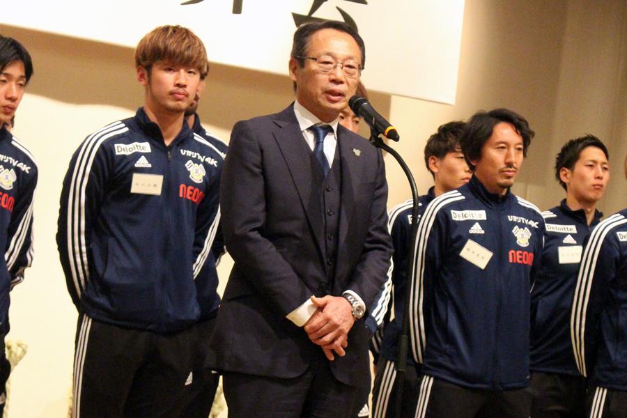 FC今治のクラブ会長を務める岡田武史氏【写真:寺下友徳】