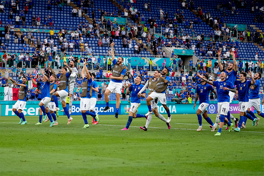 イタリア代表がグループリーグ3連勝で決勝トーナメントへ【写真:AP】