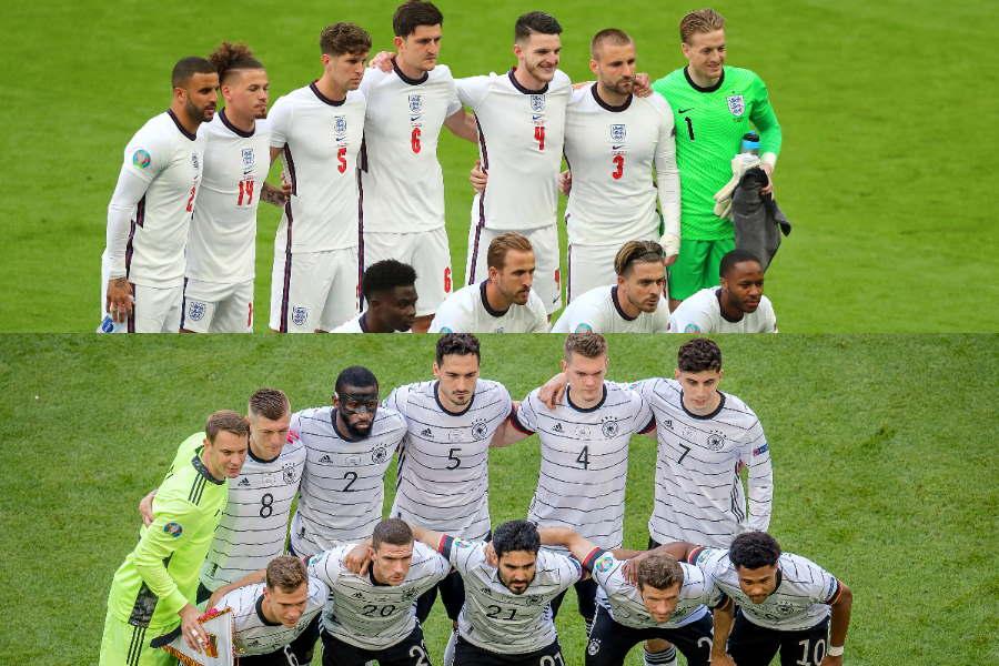 イングランドとドイツが激突する注目の一戦【写真:Getty Images】