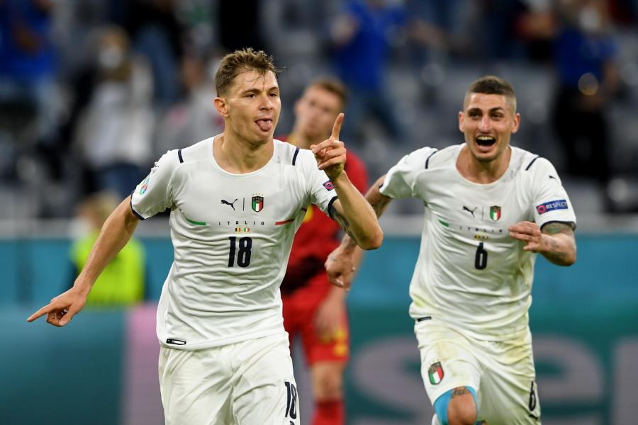 先制ゴールを決めたイタリア代表MFバレッラ【写真:Getty Images】