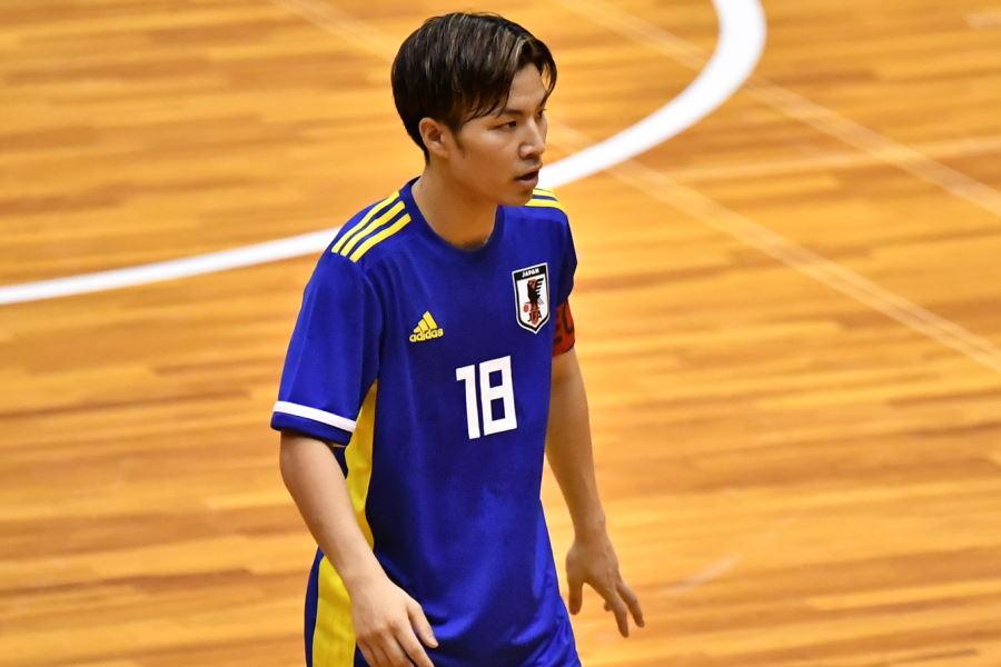 U-20フットサル日本代表のキャプテンであるFP毛利元亮【写真:勝又寛晃】