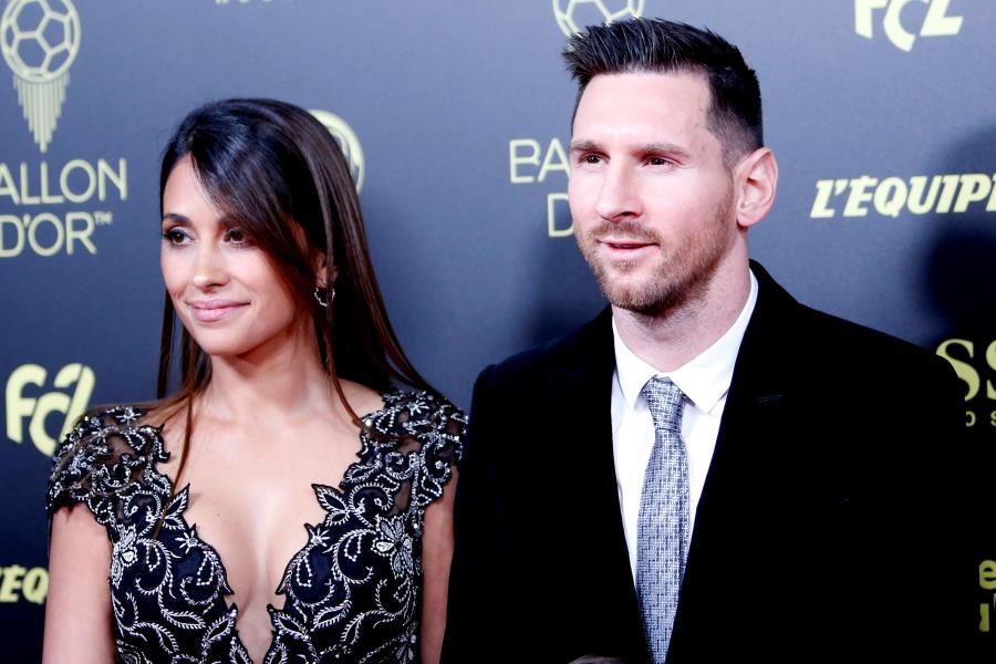 メッシと妻のアントネラさん【写真:Getty Images】