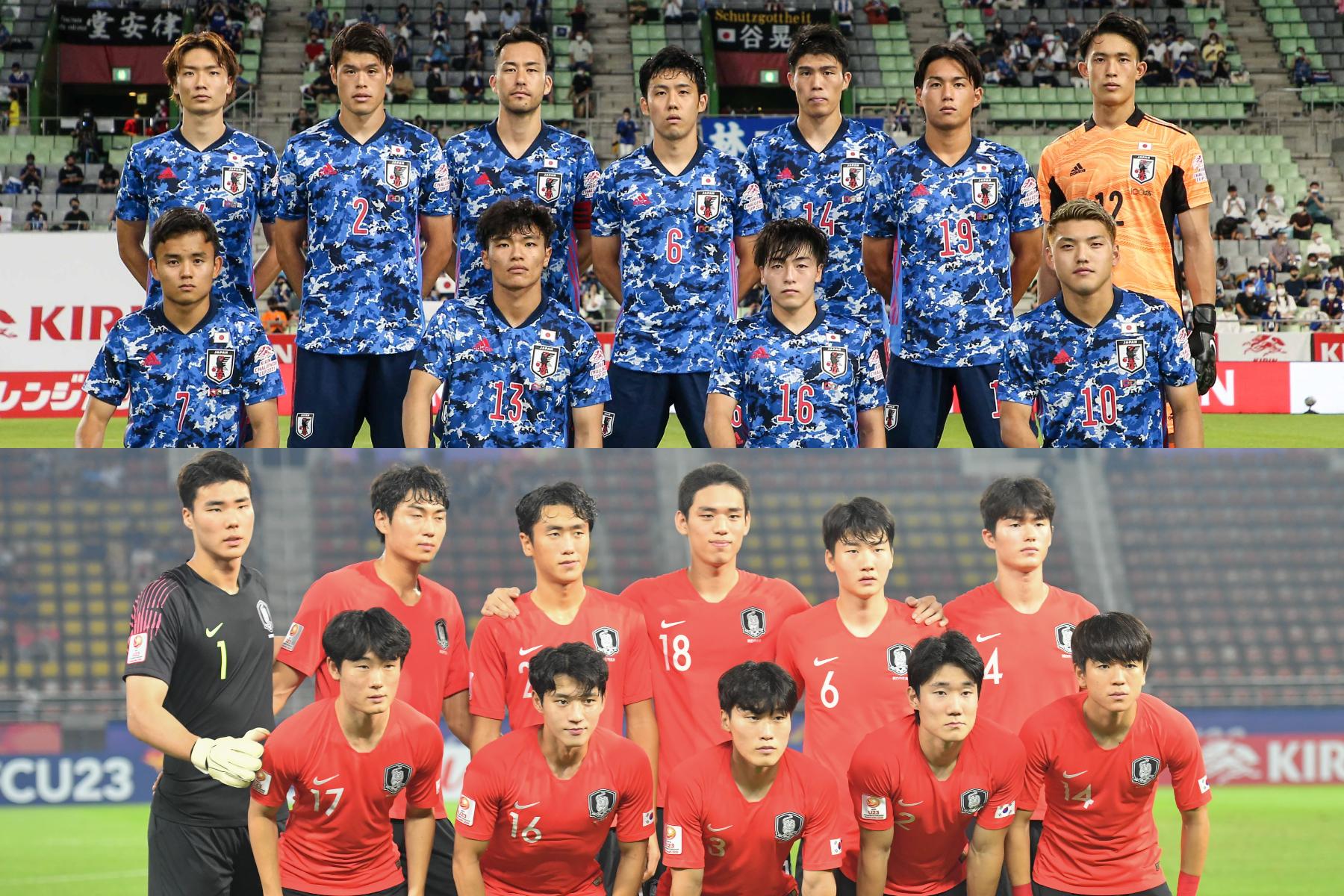 韓国メディアが日本と韓国のオッズを比較【写真:ⓒJFA & Getty Images】