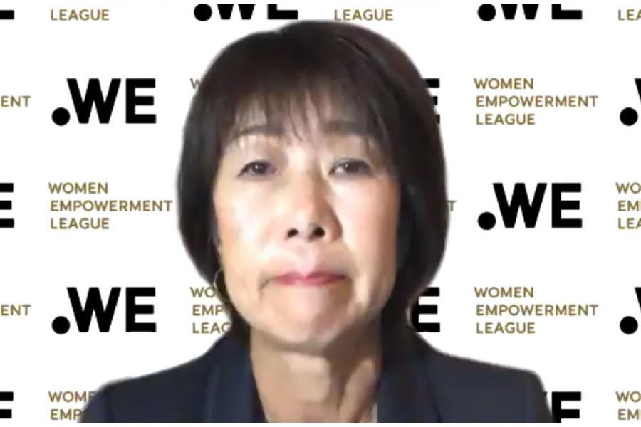 「.WEリーグ」代表理事「チェア」就任の岡島喜久子氏【※画像はスクリーンショットです】