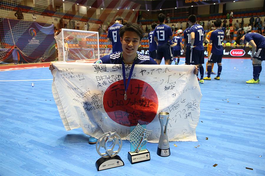 U-20フットサル日本代表FP大澤雅士【写真:河合拓/Futsal X】