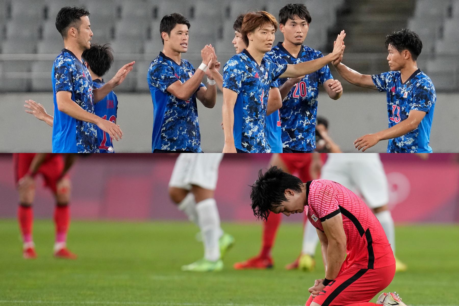 白星スタートの日本代表と、1戦目を落とした韓国代表【写真:AP】