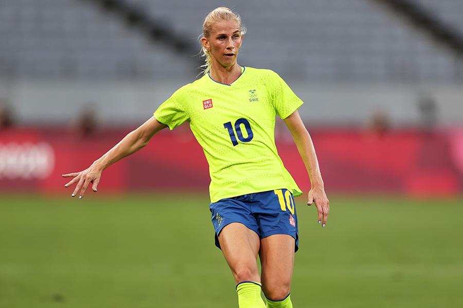 スウェーデン女子代表FWソフィア・ヤコブソン【写真:Getty Images】