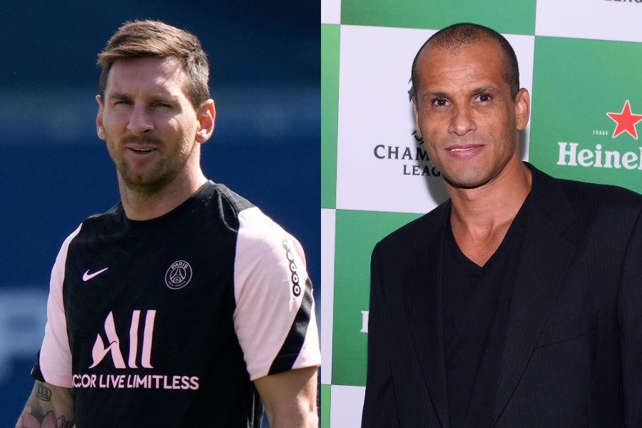 PSGに移籍したメッシと元ブラジル代表FWリバウド氏【写真:Getty Images & AP】