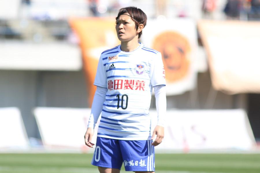上尾野辺めぐみ【写真:Football ZONE web】