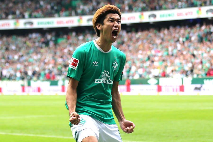 ブレーメンの1部残留に貢献した日本代表FW大迫勇也【写真:Getty Images】