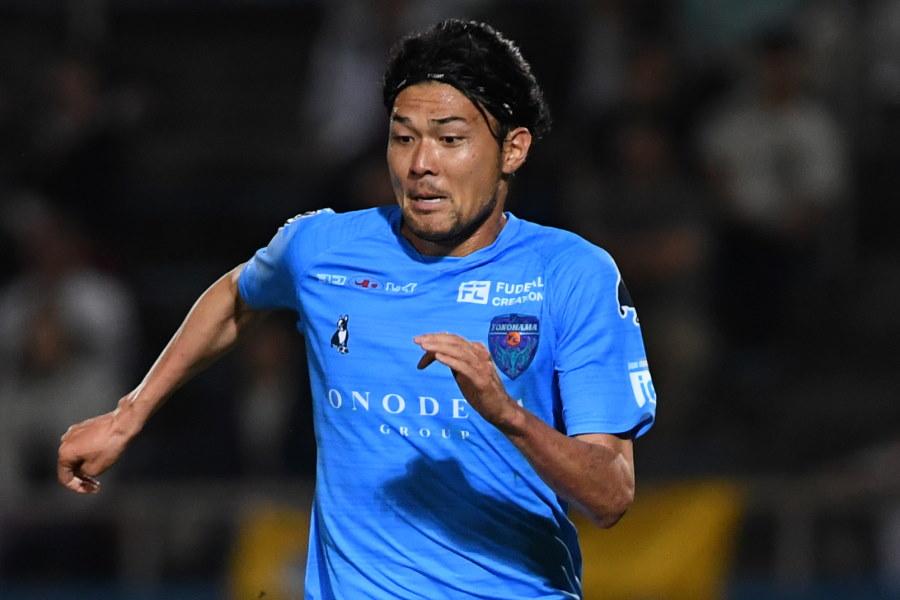 今季初出場で決勝ゴールを決めた横浜FCのFW瀬沼優司(※写真は昨年のものです)【写真:Getty Images】