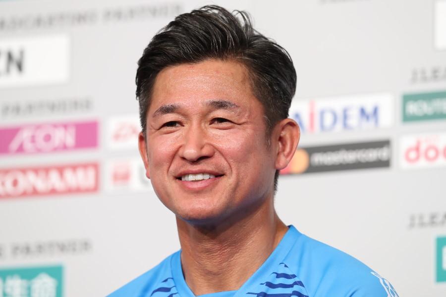 横浜FCのFW三浦知良【写真:高橋学】