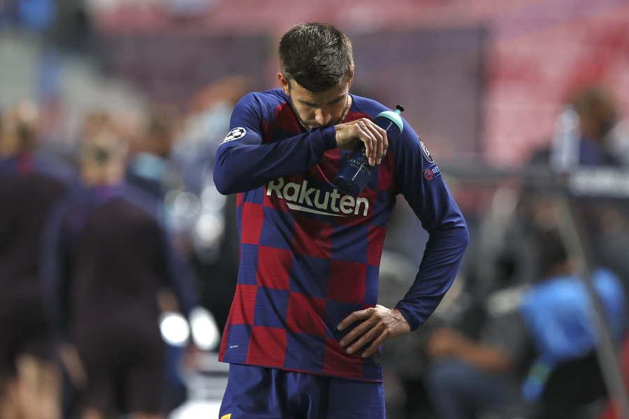 バルセロナのDFジェラール・ピケが心境を吐露【写真:AP】