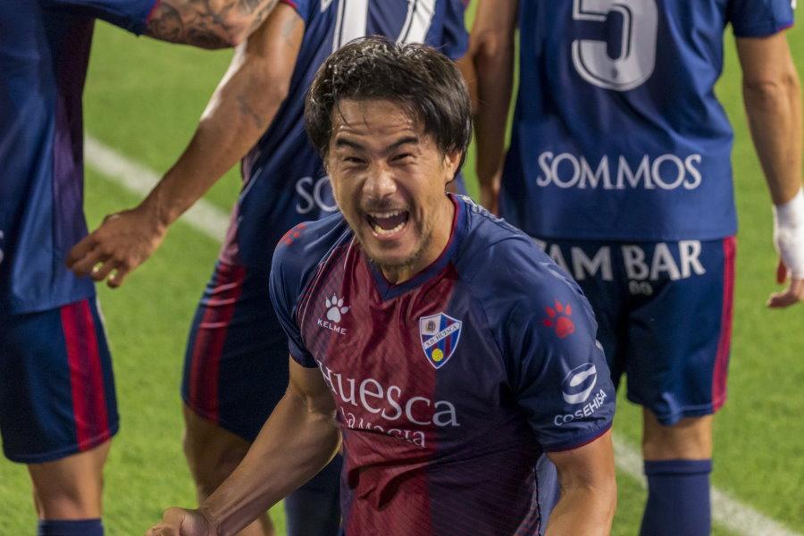 ウエスカの日本代表FW岡崎慎司【写真:SD Huesca】