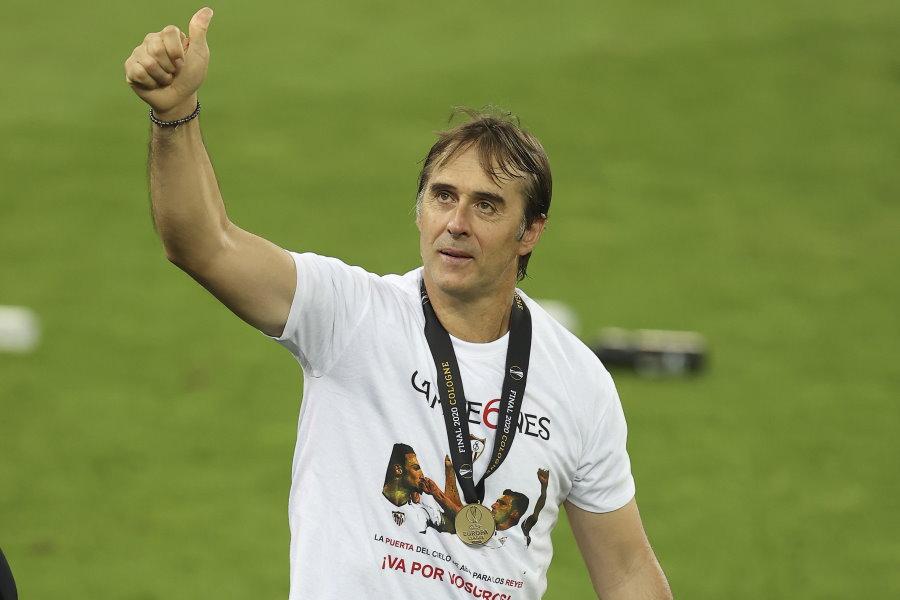 フレン・ロペテギ監督率いるセビージャが史上最多6度目の優勝を達成【写真:AP】