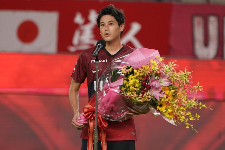 引退を表明した鹿島DF内田篤人【写真:Getty Images】