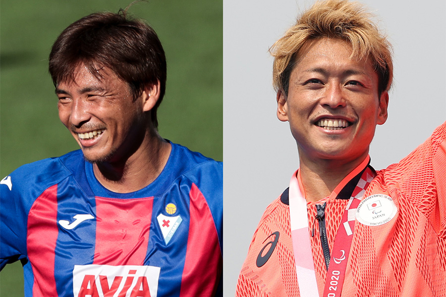 乾貴士が東京パラリンピックでメダルを獲得した宇田秀生を祝福【写真:Getty Images】