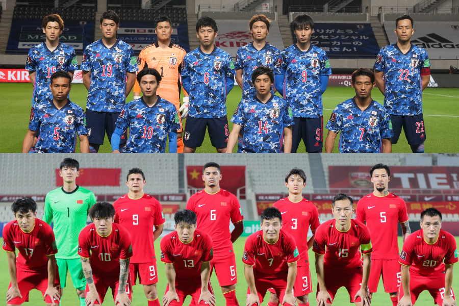 W杯最終予選に挑む日本代表(上)と同グループの中国代表【写真:Getty Images & ©JFA】
