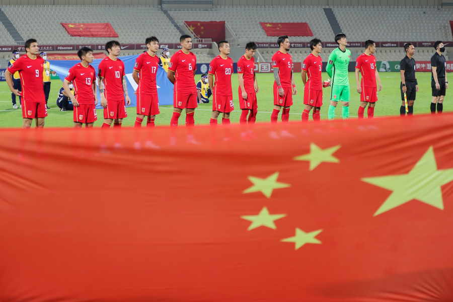 日本代表と同グループで対戦する中国代表【写真:Getty Images】