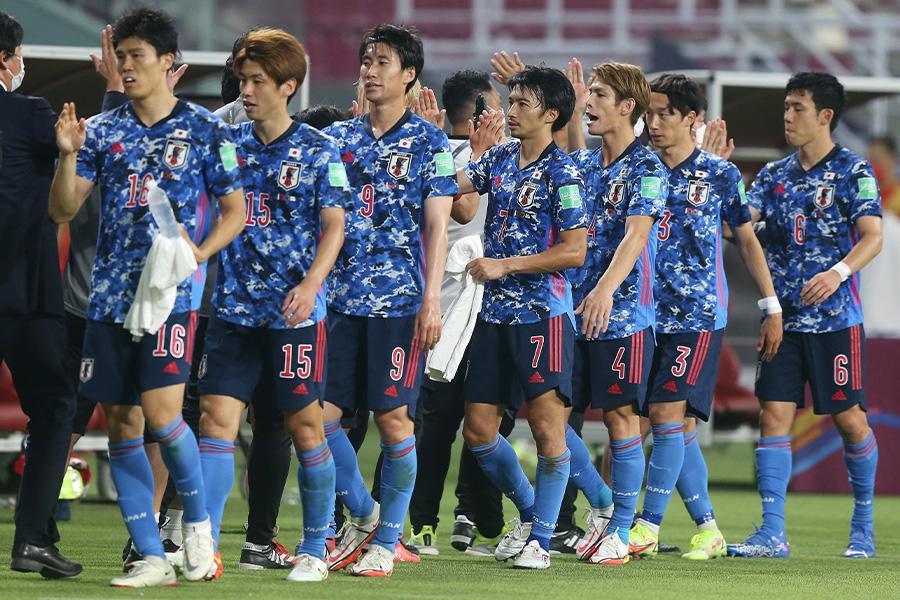 中国代表に勝利し勝ち点3を獲得した日本代表【写真:Getty Images】
