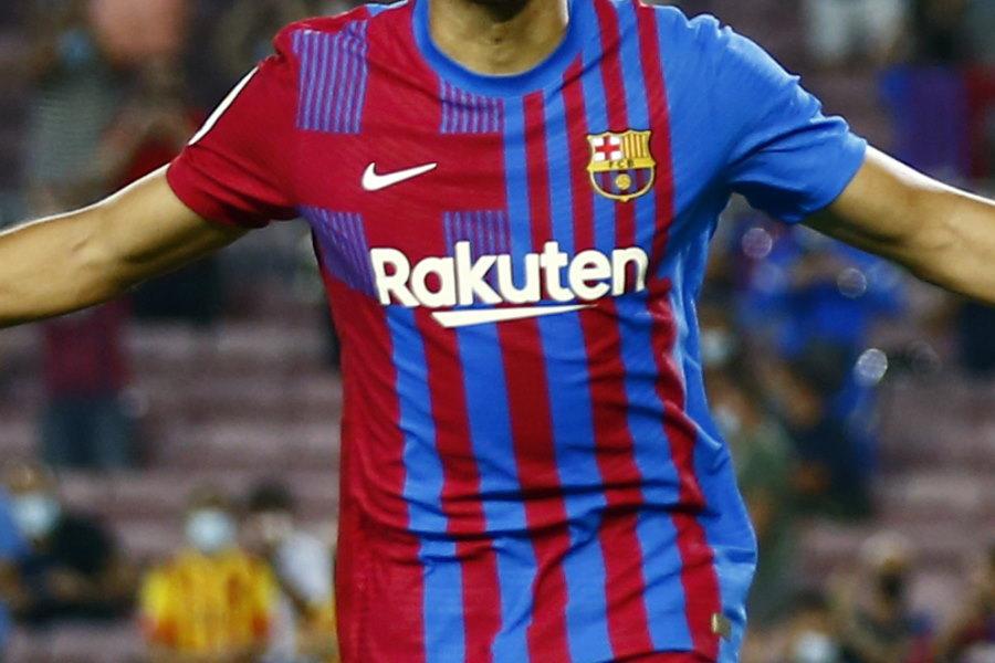 スペイン紙「ムンド・デポルティーボ」がバルセロナの2022-23シーズン用ユニフォームデザインを報じた【写真:AP】