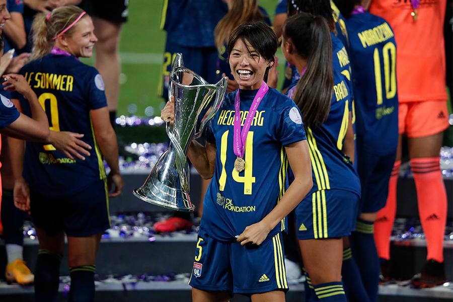 リヨンのチャンピオンズリーグ5連覇にゴールで貢献したDF熊谷紗希【写真:Getty Images】