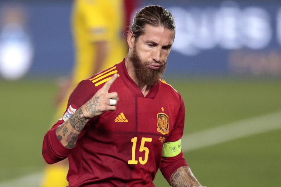 スペイン代表DFセルヒオ・ラモスの得点力に注目【写真:AP】