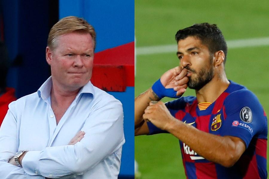 バルセロナのクーマン新監督はクラ(左)はクラブ残留であればFWスアレスを戦力として計算か【写真:AP】