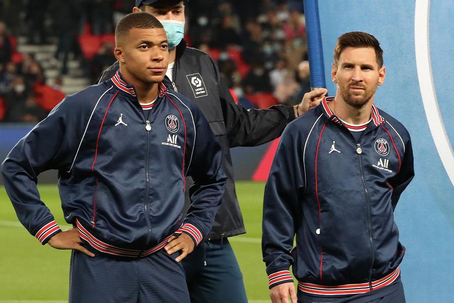 パリ・サンジェルマンでプレーするFWムバッペとFWメッシ【写真:Getty Images】