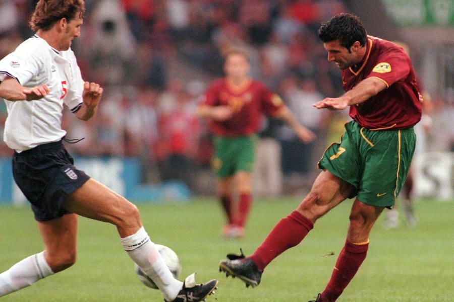 元ポルトガル代表FWルイス・フィーゴのキャリア絶頂期で生まれたスーパーゴール【写真:Getty Images】