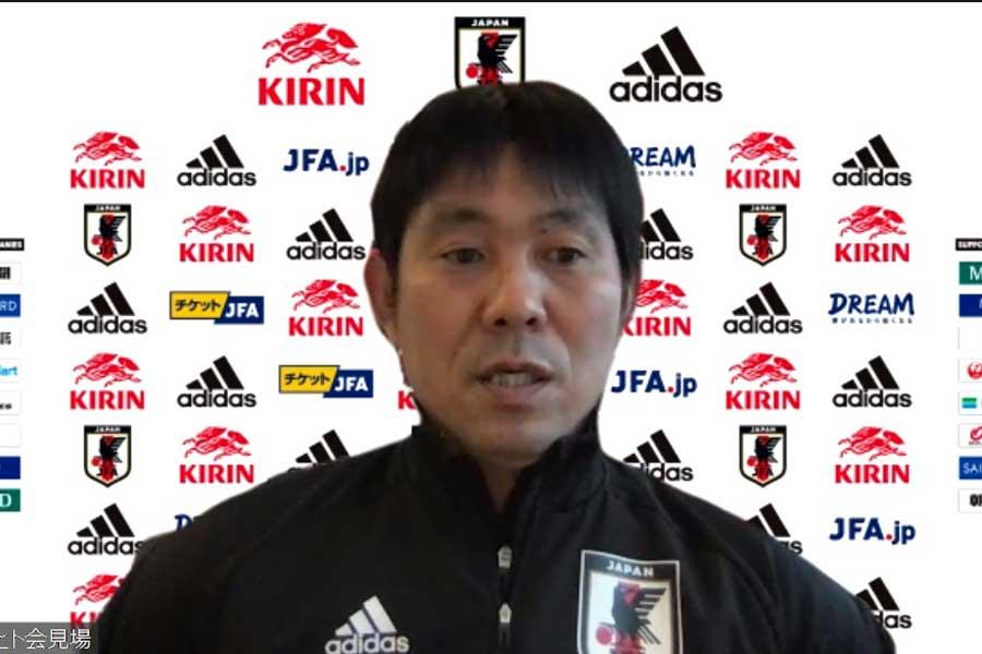 日本代表の森保一監督(写真はスクリーンショットです)