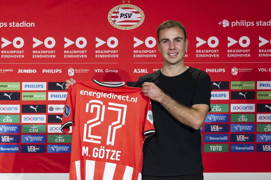 PSVに移籍したマリオ・ゲッツェ【写真:Getty Images】