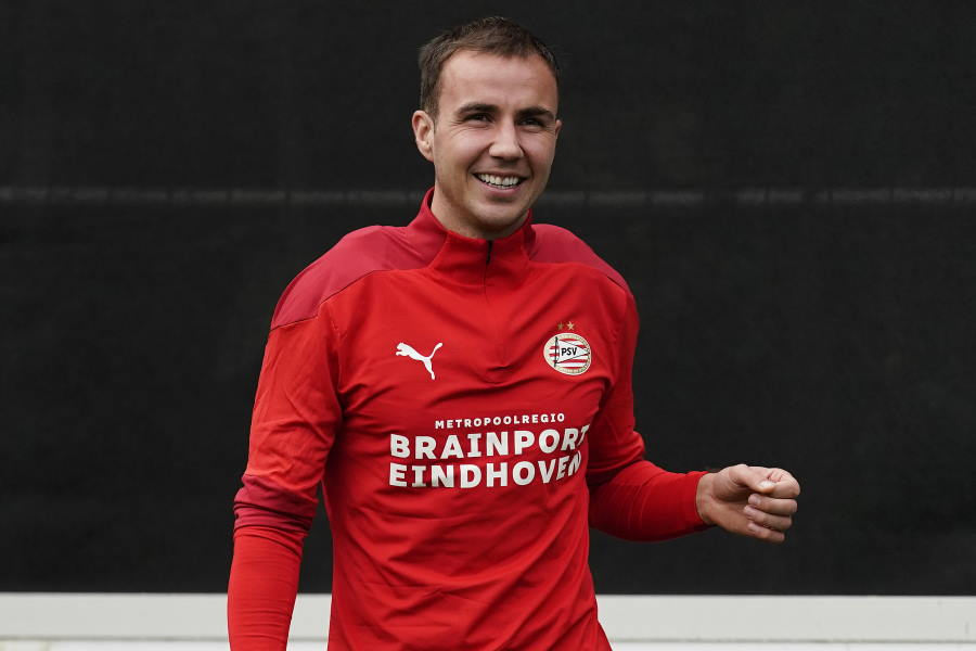 PSVでトレーニング中のマリオ・ゲッツェ【写真:Getty Images】