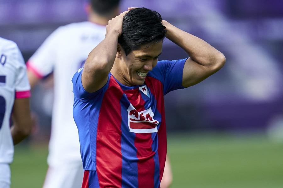 エイバルのFW武藤嘉紀は5試合無得点と結果を残せず【写真:Getty Images】