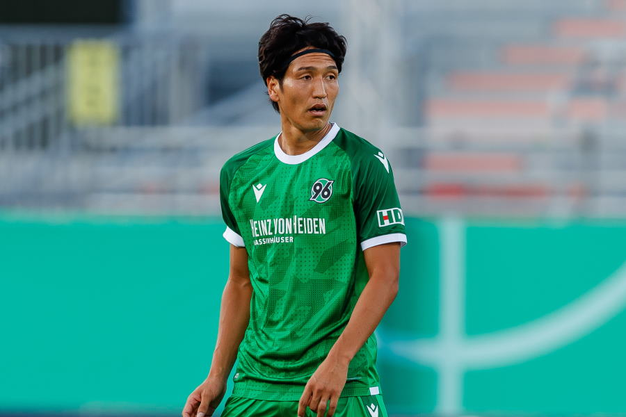 ハノーファーに所属する日本代表MF原口元気【写真:Getty Images】