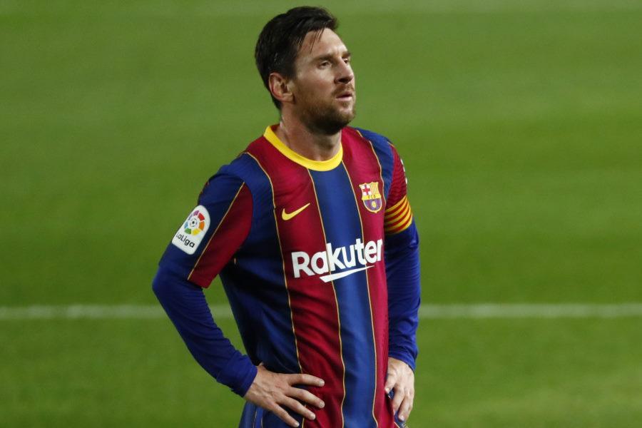 去就が注目されているバルセロナのアルゼンチン代表FWリオネル・メッシ【写真:AP】