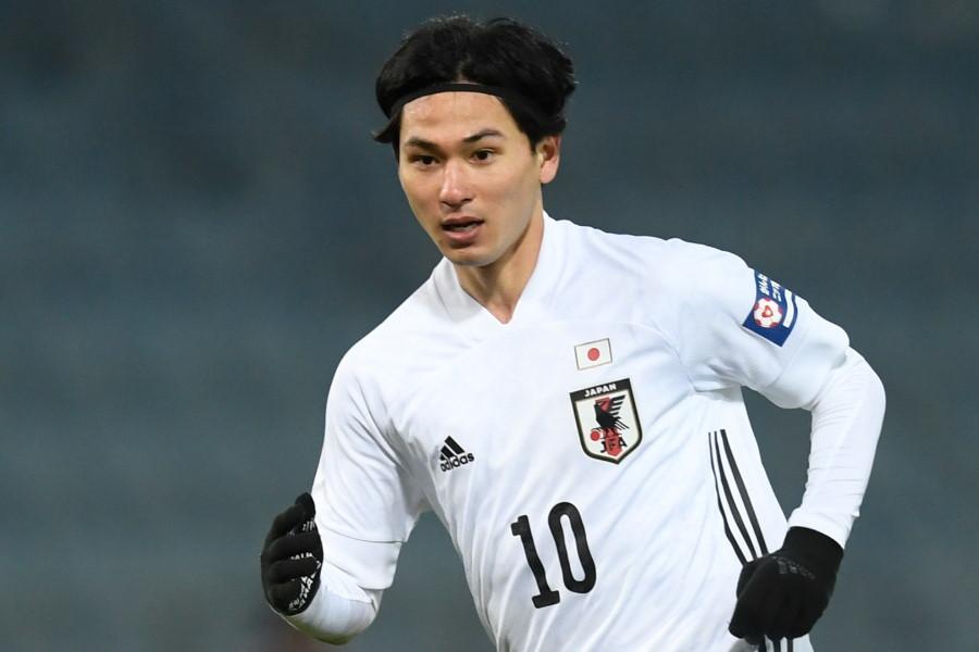 今回も日本代表で10番を背負うMF南野拓実【写真:AP】