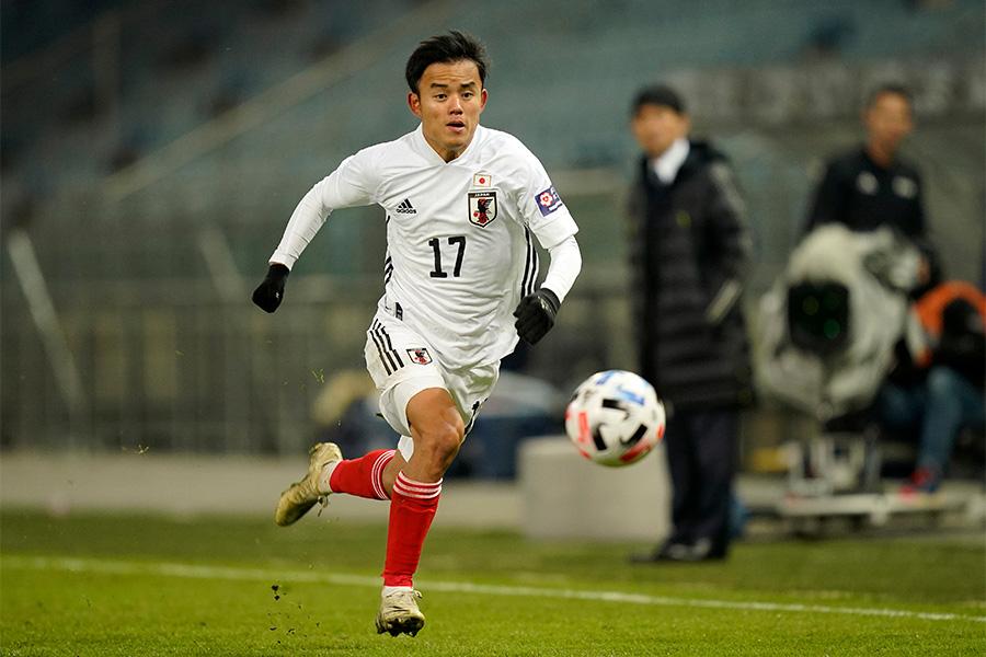 FIFAも日本代表MF久保建英に注目をしている【写真:Getty Images】