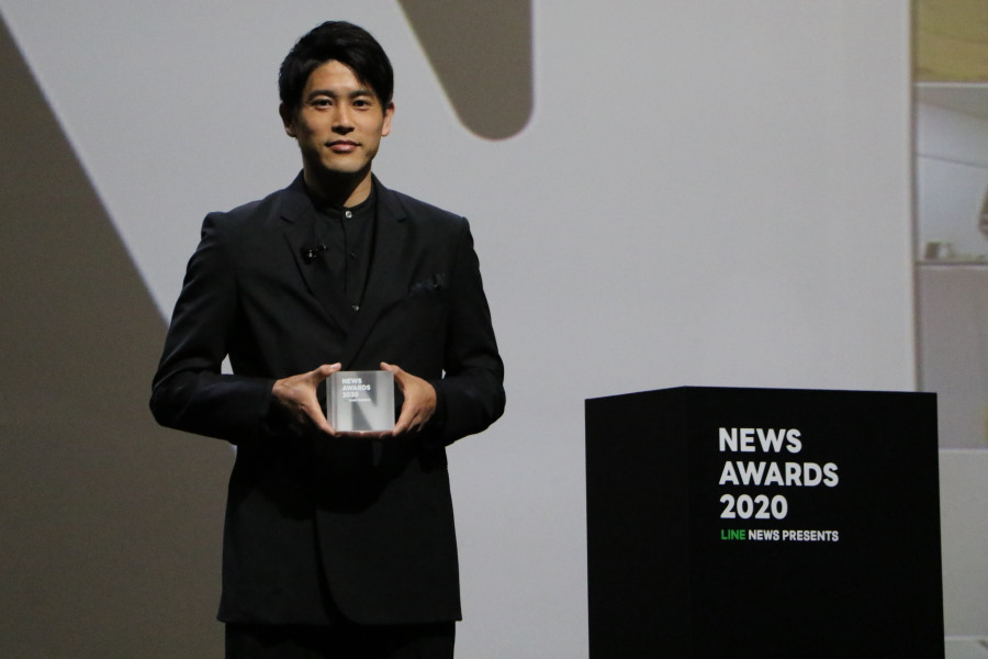LINE「NEWS AWARD 2020」でアスリート部門の「話題の人」に選出された内田篤人氏【写真:Football ZONE web】