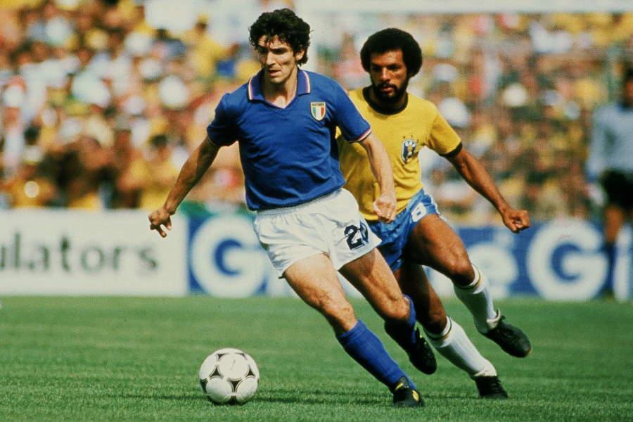 スペインW杯・ブラジル戦でハットトリックを達成した元イタリア代表パオロ・ロッシ【写真:Getty Images】
