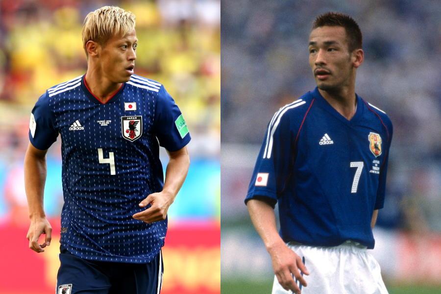 W杯でそれぞれ活躍した元日本代表MF本田圭佑と元日本代表MF中田英寿【写真:Getty Images】